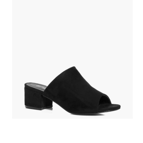 f0ec6f47491b Boohoo Shoes - Boohoo Black Block Heel Mules